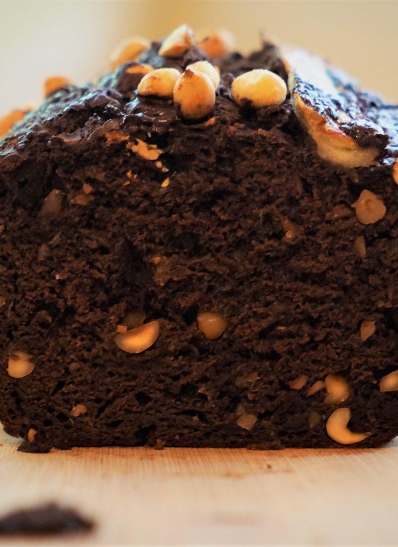 Healthy-ish Chocolate Peanut Butter Banana Bread