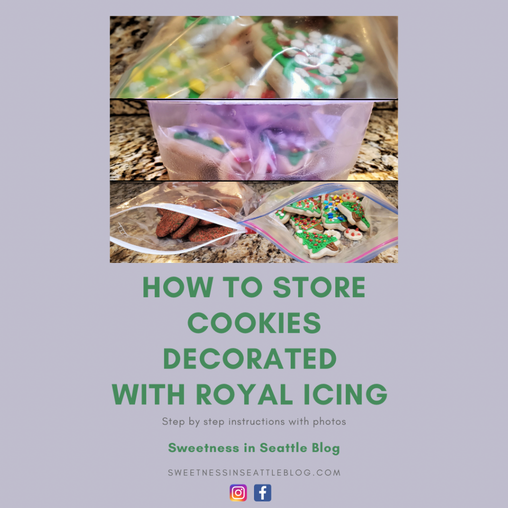 How to store cookies decorated with royal icing