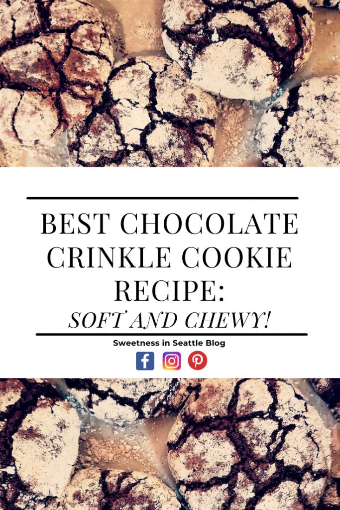 Best chocolate crinkle cookie recipe